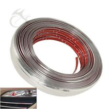 3m Silver Moulding Trim Strip Motorcycle Car Chrome Styling Decoration Tape 18mm