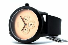 Mark Naimer Men's Chronograph Watch All Black Silver,Golden,Copper Date Day 3ATM