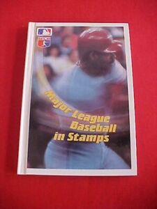 1990 Major League Baseball in Stamps Hardcover Book Grenada w/stamps in 9 sheets