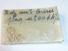 vintage LOT ancien bijoux MAILLE 4mm de CHAINETTE en plaqué OR gold COLLIER