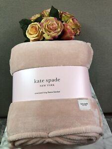 NWT Kate Spade Pink King Fleece Blanket