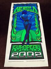 "Nebula ""European Tour 2002"" Poster Silk Screened Black Light Signed/#'d Psych"