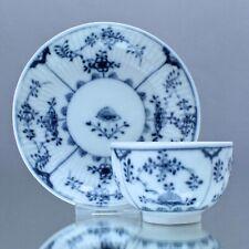 Meissen um 1760: Koppchen Gebrochener Stab, Strohmuster, Teetasse, Blau, tea cup