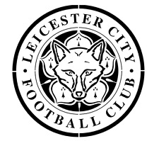 high detail airbrush stencil leicester football logo FREE UK POSTAGE