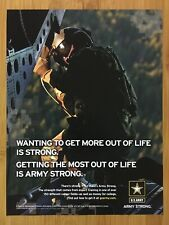 2007 U.S. Army Special Operations Print Ad/Poster Chinook Helicopter Crew Chief