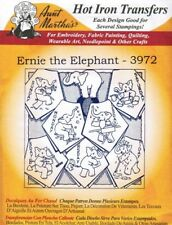 Ernie the Elephant 3972 Aunt Martha's Hot Iron Embroidery Transfer Pattern