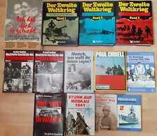 13 Bücher über den 2. Weltkrieg, Kriegsbücher, Kriegsliteratur