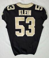 #53 A. J. Klein of New Orleans Saints NFL Locker Room Player Worn Jersey