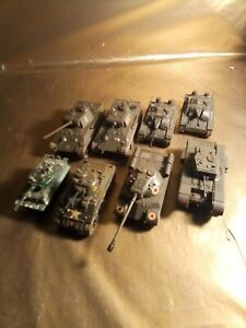 Small Model Military Tank Lot Of 8
