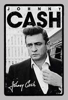 Johnny Cash Signature Pancarte en Tôle Signe Métal Voûté Étain 20 X 30 de Cm