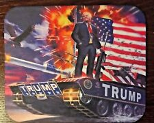"President Donald Trump on a Military Tank Non-Slip Mousepad 8.5"" x 7"""