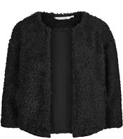 Bishop + Young Women's Jacket Black Size Medium M Sherpa Bolero Shrug $105 #329