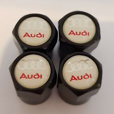 Válvula De Coche Audi Blanco Negro Plástico Rueda de Aleación Polvo Tapas todos los modelos Antiadherente