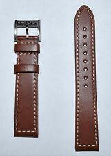 Original Hamilton Khaki Field 20mm Brown Leather Band Strap H70455553, H70455533