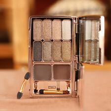 Diamond Shimmer 8 Eyeshadow + Eyebrow Palette Set Waterproof Beauty Make Up no.2