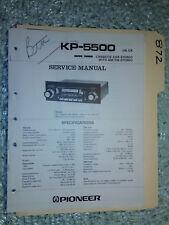 Pioneer kp-5500 service manual original repair book stereo car radio tape deck