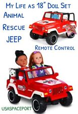 "My Life as 18"" Doll Remote Control ANIMAL RESCUE JEEP American Girl Boy R/C Car"