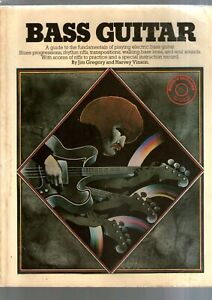 BASS GUITAR FUNDAMENTALS WITH SCORES & RIFFS SONGBOOK 1973 with instruction disc