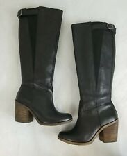 LUCKY BRAND LK Orman Black Leather Knee High Boots Size 7.5 M