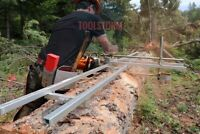 First Cut 8 FT Rail & Connector Kit for Chainsaw Milling Attachment Mill Sawmill
