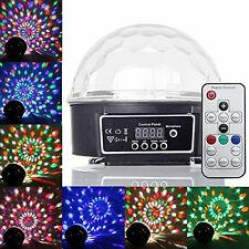 Remote Control Crystal Ball LED Stage Lighting Disco Lights for Club Xmas Party