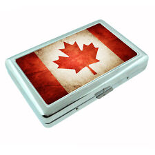 Vintage Canada D1 Silver Cigarette Case / Metal Wallet Card Money Cash Holder