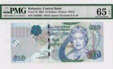 2005 BRITISH COLONY BAHAMAS QEII $10 PMG 65 EPQ GEM UNC <P-73> **Rare**