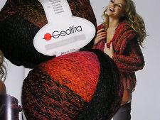 600g CHANDRA Gedifra WOLLE Schachenmayr Schwarz Rot Orange Pink BUNT Farbverlauf