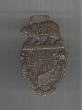 1915 PANAMA PACIFIC EXPOSITION SOUVENIR WATCH FOB-BEAR & CANAL MOTIF