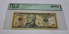 Fr 2041 D 2009 Ten Dollar Star Note 10 Cleveland PCGS Graded 68 Superb Gem New