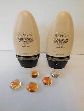 Lot of Two Revlon Colorstay Lite Makeup 1 oz  Oil- Free SPF 12 Sand Beige