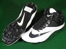 New Mens Nike Lunar Code Pro D 3/4 Football Cleats White Black 12 Detachable
