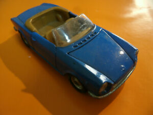 Rare Model Car Fiat 124 Sport Politoys Export N.555 Made in Italy Scala 1/43
