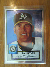 2001 TOPPS HERITAGE  TIM HUDSON RARE CHROME VERSION /552