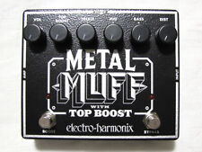 Used Electro-Harmonix EHX Metal Muff Distortion w/ Top Boost Guitar Pedal!