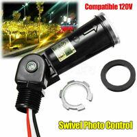 120V Light Photo Sensor Controller Dusk To Dawn For Outdoor Swivel Lamp Black
