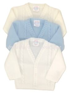 Baby Boy's Spanish Style Knitted Cable Cardigan 0-24 Months