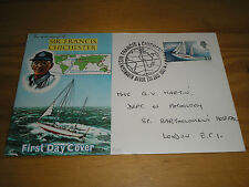1967 GB SIR FRANCIS CHICHESTER Stamp Connoiseur FDC Special PLYMOUTH Cancel