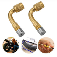 Brass Valve 90° Degree Angle Tire Pressure Extension Adapter Wheel Connector