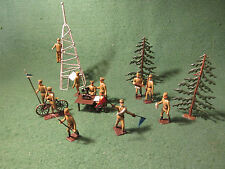 Mignot. LEAD TOY SOLDIERS GREEK WW1 COMMUNICATIONS DIORAMA