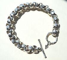 MINT SILPADA .925 Sterling Silver HAMMERED ROLO LINK BRACELET, B1610