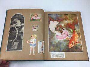 Vintage 1920's Scrapbook Album Large Magazine Cutouts pictures 100+ Pages FILLED