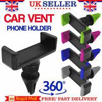 Universal 360° Rotating Car Mobile Phone Holder Air Vent Mount Cradle for GPS UK