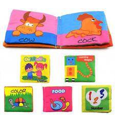 Livre Tissu Doux Pour Bébé Enfant Age Eveil Premier Intelligence Jouet Éducation