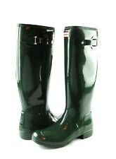 Hunter Women's Original Tour Gloss Hunter Green Tall Rubber Rain Boot NEW Size 9