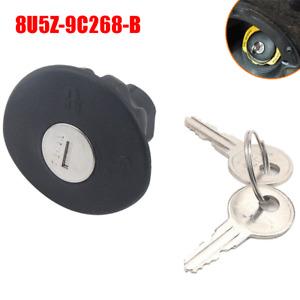 Locking Gas Fuel Tank Plug Cover Cap+Keys For Ford Lincoln Mercury 8U5Z-9C268-B