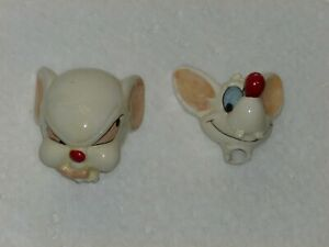 PINKY & the BRAIN - Salt Pepper Shaker - HEADS ONLY - Decapitated  ANIMANIACS wb