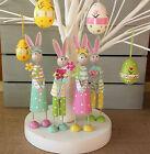 Pastel Tin Standing Easter Bunny Figure Ornament Rabbit Gisela Graham Decoration
