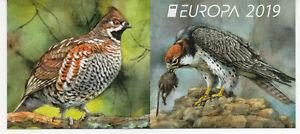 BULGARIA 2019  EUROPA CEPT NATIONAL BIRDS FALCON GROUSE BOOKLET