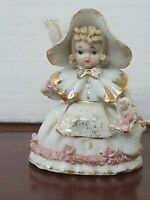 Vintage LEFTON CHINA Figurine Little Bo Peep Roses K 1052